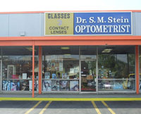 Doctor S. M. Stein at the original Stein Optometry